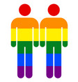 rainbow male sign lgbt gay rainbow pride symbol vector image