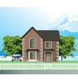 residential detached house vector image vector image
