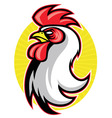 rooster head mascot vector image vector image
