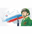 russian soldiers 3 vector image vector image