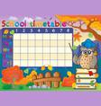 school timetable composition 1 vector image vector image