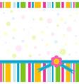 Scrapbook greeting card template vector image