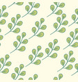 seamless floral pattern green vector image vector image
