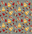 seamless pattern birthday celebration vector image