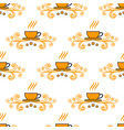 seamless pattern with hand drawn sketchy tea and vector image vector image