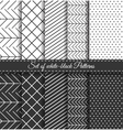 Set of black white Pattern4 vector image vector image