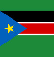 south sudan flag vector image vector image