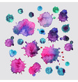 Spray paint watercolor splash backgroundcolorful vector image