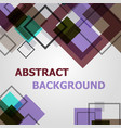 square geometric pattern design background vector image vector image