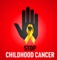 Stop Childhood Cancer sign vector image vector image
