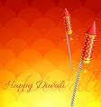 Stylish background of diwali vector image vector image
