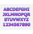stylized candy alphabets vector image