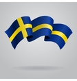 Swedish waving Flag vector image