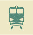 Train icon in grunge style