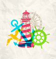 travel paper vector image vector image