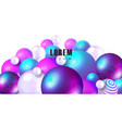 trendy background with colored balls modern vector image