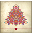 triangle ornament design on grunge background vector image vector image