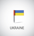 ukraine flag pin vector image vector image