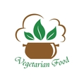 Vegetarian food icon vector image