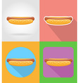 fast food flat icons 14 vector image