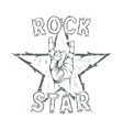 Rock star print for t-shirt graphic vector image