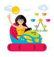 amusement park flat style colorful cartoon vector image