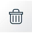 recycle bin outline symbol premium quality vector image