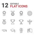 12 achievement icons vector image vector image