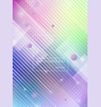 abstract geometric shapes with blurred colors vector image vector image