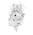 Abstract graphic wolf print vector image vector image