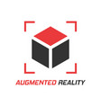 augmented reality icon in flat style vr device on vector image