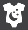 baby romper solid icon baby clothes and kid vector image vector image