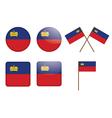 badges with flag of Liechtenstein vector image vector image