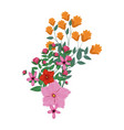 beautiful bouquet of flowers vector image