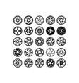 bicycle disk rotors vector image vector image