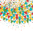 Birthday Background with Buntings vector image