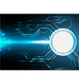 Blue electronic technology background vector image