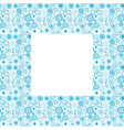 blue frame with doodle circles vector image vector image