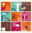 brazilian symbols vector image vector image