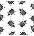 Bug symbol seamless pattern vector image
