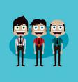 businessman manager at work cartoon art vector image vector image