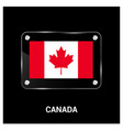 canada independence day design card vector image
