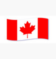 canadian flag wave vector image