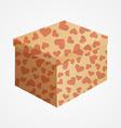 Carton box with hearts vector image