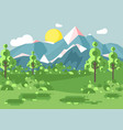 cartoon nature national park vector image