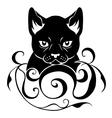 cat face decoration vector image