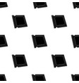 central processing unit icon in black style vector image vector image