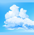 cloudy sky blue background vector image