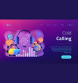 cold calling concept landing page vector image vector image