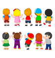 collection costume student vector image vector image